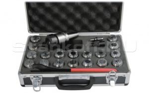 Цанговый патрон ISO40 / ER32 + цанги 3-20 мм 18 шт