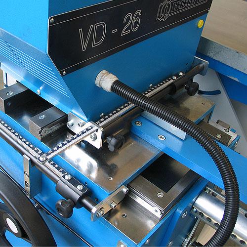 Сверлильно-пазовальный станок (долбежный станок) VD26, направляющие и линейки.