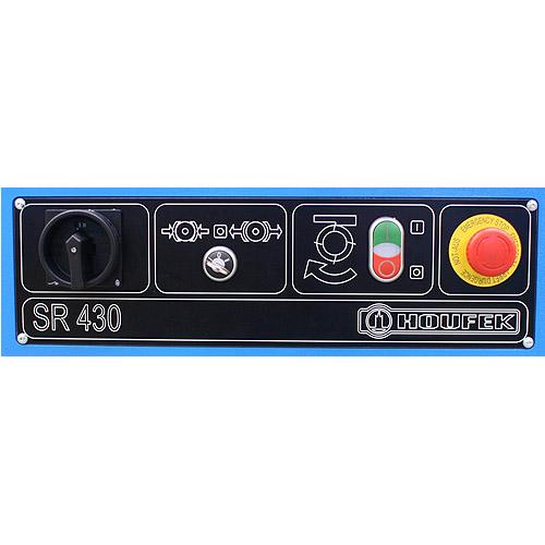Фуговальный станок SR, панель управления.