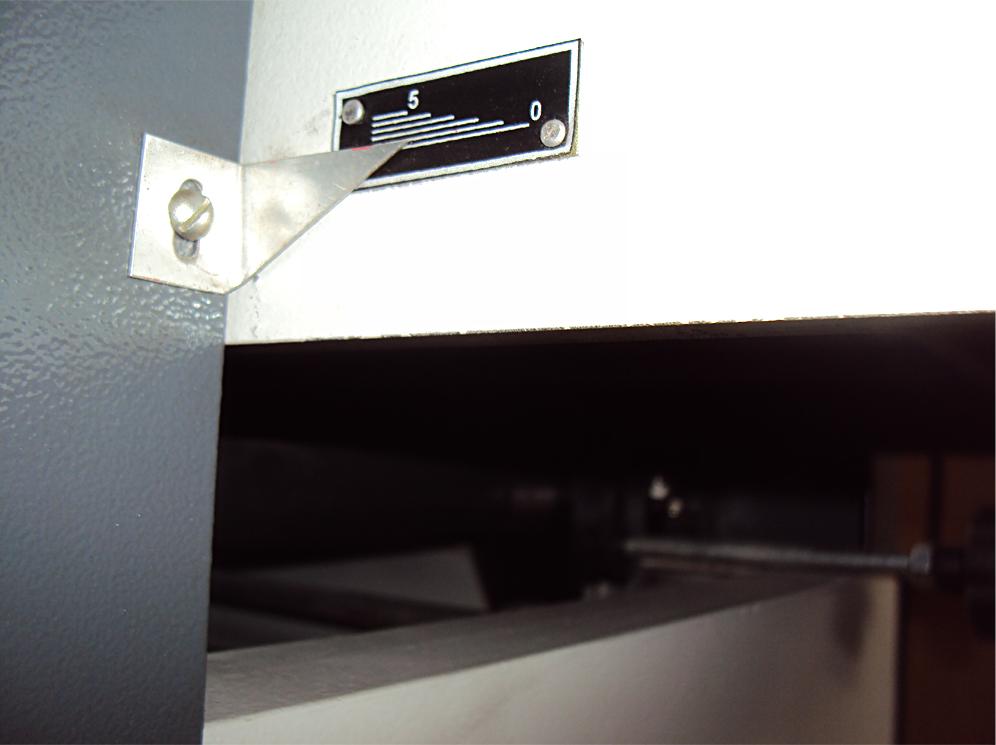 фуговальный станок мод. sf-400, sf-600, регулировка толщины снимаемого поля