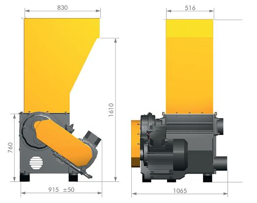 шредер для измельчения древесных отходов lr520