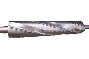 Спиральный ножевой вал с поворотными ножами 15х15х2,5мм