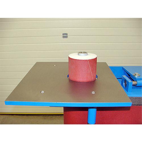 Ленточный шлифовальный станок HB 1000. Столик с бабинкой.