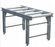 Подающий рольганг, 2м: 2 метровый подающий стол, с фиксирующими роликами