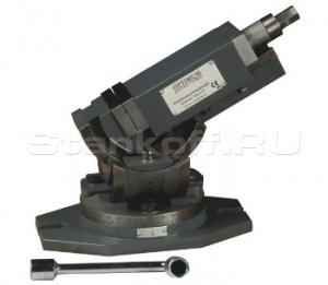 Трехосевые станочные тиски Optimum MV3-125