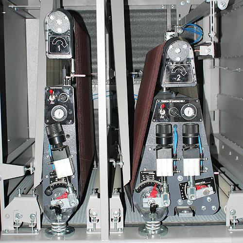 Калибровально-шлифовальный двухсторонний станок Buldog DUPLEX. Верхние узлы.
