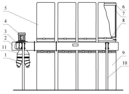 Схема стружкоотсоса УВП-7000