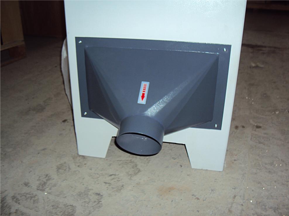 фуговальный станок мод. sf-400, sf-600, эксгаустерная воронка