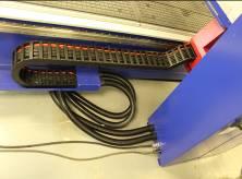 Защитные кабелеукладчики по осям X и Y фрезерного станка с ЧПУ Beaver 2513AVT6