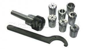 Цанговый патрон MK4 / ER32 + 18 цанг 3 - 20 мм