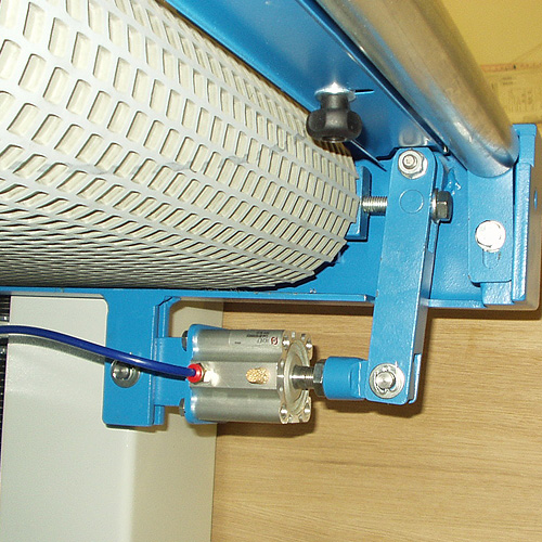 Шлифовальный станок BULDOG 5, центрирование конвейера