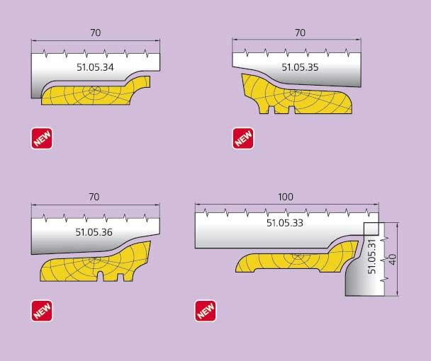 Ножи из инструментальной и быстрорежущей стали для головок класса 50