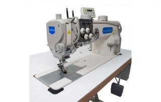 Двухигольная прямострочная промышленная швейная машина Garudan GF-237-448MH/L38
