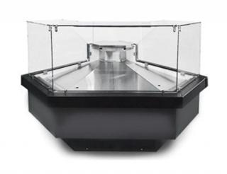 Угловая витрина NEVA slim QV IC90 TN под выносное холодоснабжение