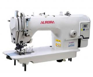 Прямострочная машина с ножом обрезки края материала и окантователем Aurora A-5200D-F