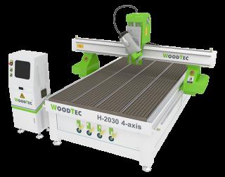 Фрезерно-гравировальный станок с ЧПУ WoodTec H 2030 4-axis