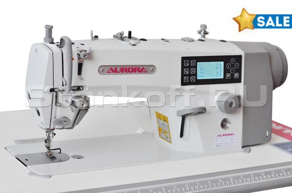 Прямострочная промышленная швейная машина Aurora V-6 (автоматические функции)