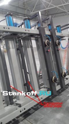 Пресс гидравлический вертикальный для оконного и строительного бруса и щита SL250-6GR (3+3)