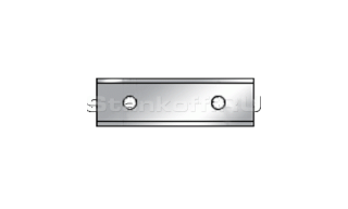 Твердосплавный нож с 2-мя режущими кромками ТН 9,6 х 12 х 1,5