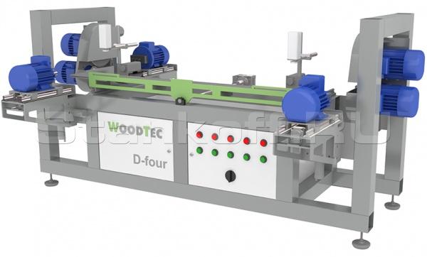 Специальный сверлильно-присадочный станок с торцовкой WoodTec D-Four