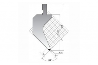 Пуансон гусевидного типа PS.135-88-R08/C/R