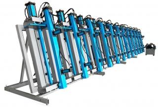 Пресс гидравлический вертикальный для склеивания бруса SLH300-6G