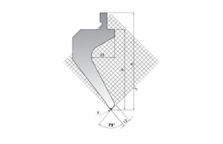 Пуансон для листогибочных прессов TOP.175-75-R2/R/T