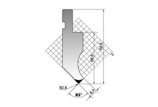 Пуансон для листогиба P.97-85-R08/F