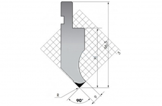 Пуансон для листогиба PK.97-90-R08/C