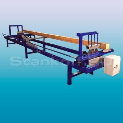 Торцовочный станок проходного типа Стилет ТСП-150/2-6000 (мультиторцовка)