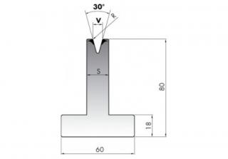 Матрица для гибки металла T80-08-90/F