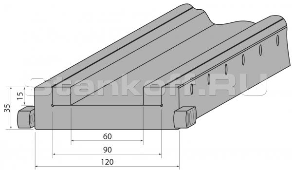 Подложка сборная с увеличенным пазом C1050-90/C