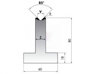 Матрица для гибки металла T80-08-85/F