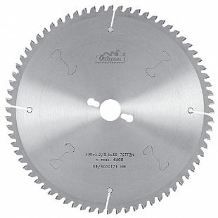 Отрезные диски с твердосплавными напайками для резки цветных металлов и пластика 400 х 3,6/2,8