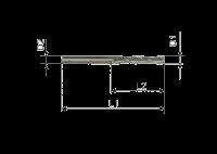 Фреза спиральная однозаходная стружка вверх N1LX3.106