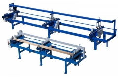 Торцовочный станок проходного типа Стилет ТСП-50/3-6000 (мультиторцовка)