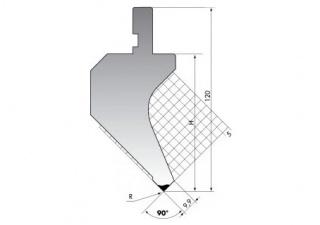 Пуансон для листогибочных прессов PK.120-90-R025/F/R