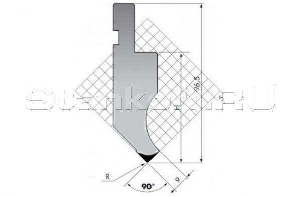 Пуансон прямого типа PK.97-90-R08/F/R