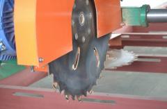 Дисковая угло-пильная (ортогональная) пилорама для распиловки бревен ДПУ-560