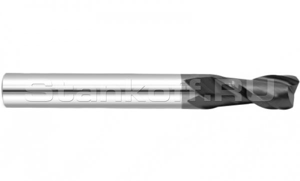 Фреза спиральная двухзаходная с покрытием AlTiN DJTOL AS2LX12L