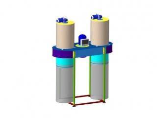 Аспирационная установка (стружкоотсос) c автоматической регенерацией ВУАР- 5000