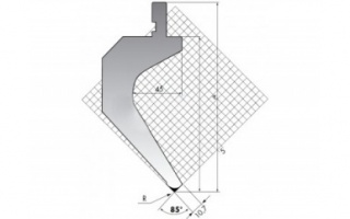 Пуансон для листогибочных прессов TOP.175-85-R2/FA/R