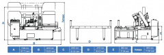 Станок ленточнопильный автоматический CUTERAL HSC 460 ALU