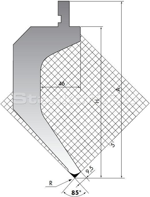 Пуансон для листогиба TOP.205-85-R2/FA/R