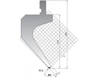 Пуансон для листогиба P.145.85.R08/F