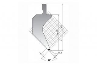 Пуансон гусевидного типа PS.135-88-R08
