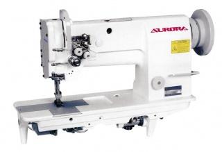 Двухигольная промышленная швейная машина для сверхтяжелых материалов AURORA A-878