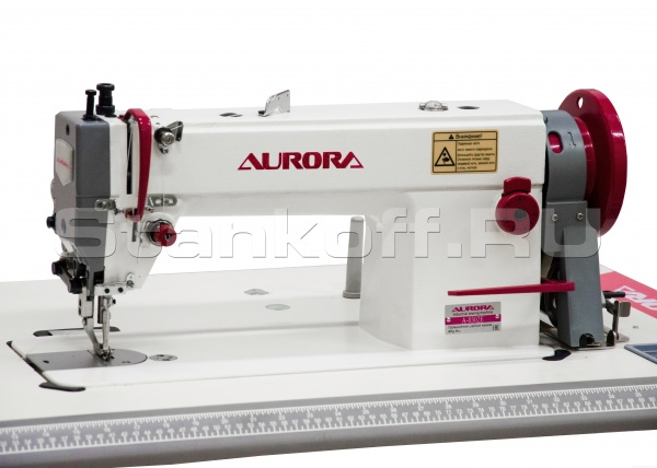 Прямострочная промышленная швейная машина с шагающей лапкой Aurora A-0302ECX-L