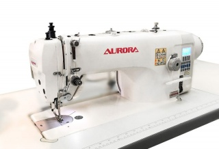 Прямострочная промышленная швейная машина с шагающей лапкой Aurora A-9312 с прямым приводом и автоматическими функциями