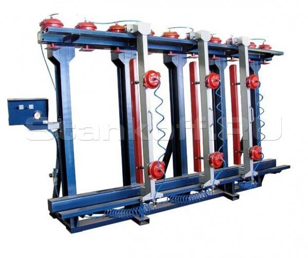 Пневматический пресс для бруса 1П-100-6000